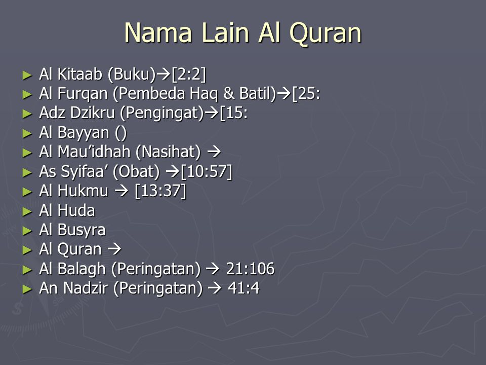 Nama Lain Al Quran Al Kitaab (Buku)[2:2]
